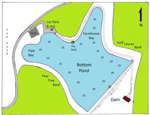 Bottom Pond and depths